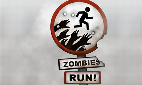 Zombies Run for Fitness and Health Cravings